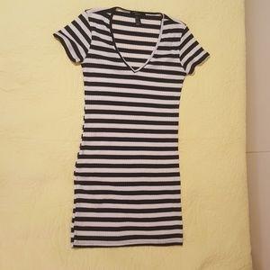 Make Offer!  Sexy Striped black dress small F21